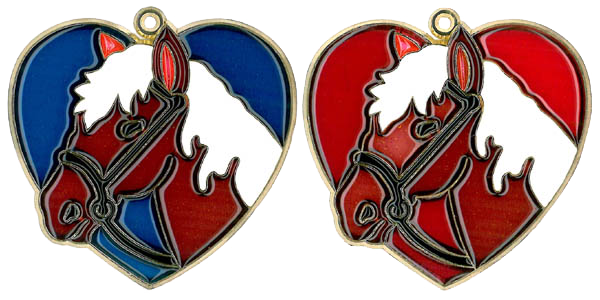 Horse Head in Heart - Suncatcher