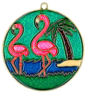 Two Flamingos - Suncatcher