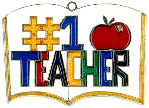 #1 Teacher - Suncatcher