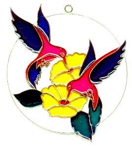 Hummingbirds in Circle - Suncatcher