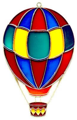 Large Hot Air Balloon - Suncatcher