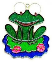 Frog on Lilly - Suncatcher