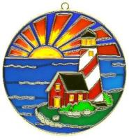 Round Lighthouse Scene - Suncatcher