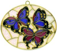 Butterflies in Oval - Suncatcher